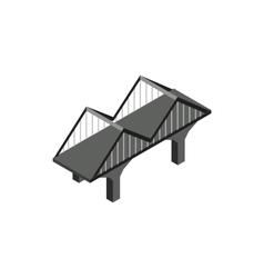 Black bridge icon in isometric 3d style vector image vector image