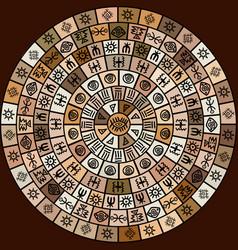 ethnic symbols round design vector image