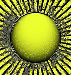 Acid yellow ball vector image