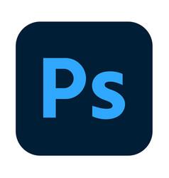 Adobe photoshop logo icon isolated on white vector