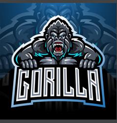 Angry gorilla mascot logo vector