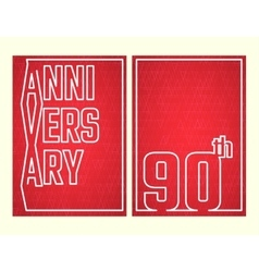 Anniversary outline set vector image