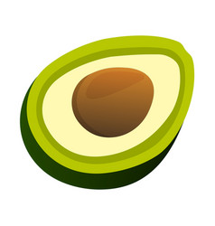 Avocado icon food with healthy fats and oils vector