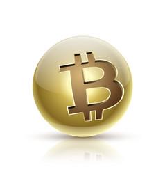 ball bitcoin vector image