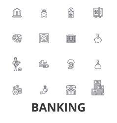 Banking ank building finance money banker vector