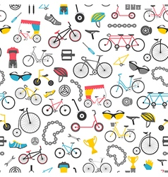 Bicycle seamless pattern Colour flat design vector