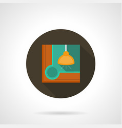 Billiards flat round icon vector