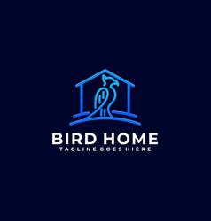 Bird home color design template vector
