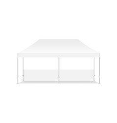 Blank rectangular display tent mock up isolated vector