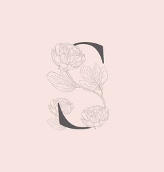 Blooming floral initial s monogram and logo vector