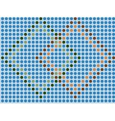 blue mosaic - seamless wallpaper vector image