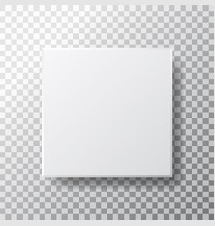 box mockup isolated on transparent background vector image