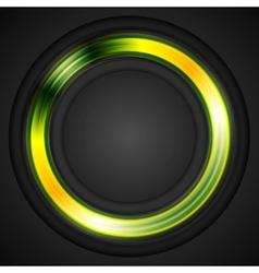 Bright glowing circle logo vector