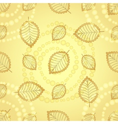 Bright seamless pattern with gold decorative leave vector