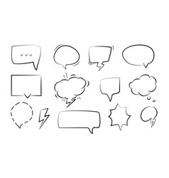 Bubble speech set vector