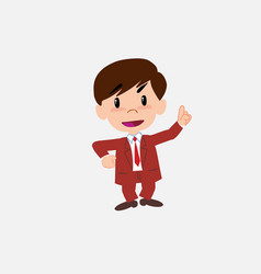 Businessman talking very determined and optimistic vector