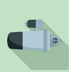 car starter icon flat style vector image