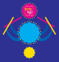 Celebrate navratri festival poster card design vector