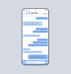 Chat conversation smartphone interface template vector
