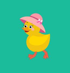 Chicken in hat vector