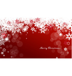 Christmas background with white and red vector