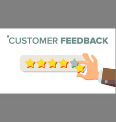 Client giving rating businessman hand vector
