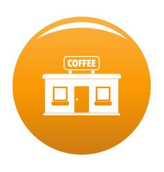 Coffee shop icon orange vector