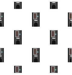 Coffee vending machine pattern seamless vector