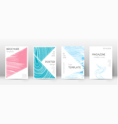 cover page design template triangle brochure vector image