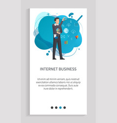 development and retail internet business vector image