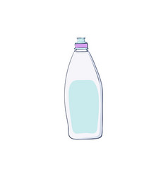 Dishwashing liquid kitchen dish wash vector
