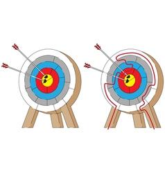Easy archery maze vector