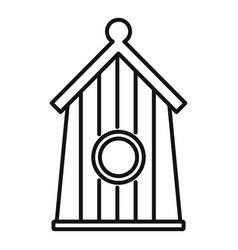 Farm bird house icon outline style vector