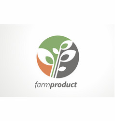 farm product grain organic logo food mark vector image