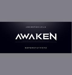 game sport movie alphabet font typography modern vector image