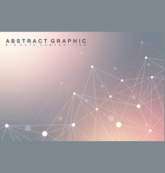 geometric scientific background molecule and vector image