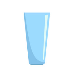glass icon flat style vector image