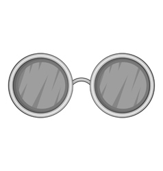 Glasses black lenses icon gray monochrome style vector