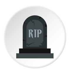 Grave rip icon circle vector