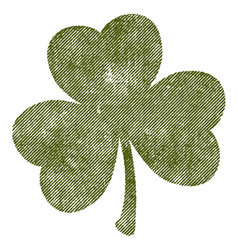 grunge isolated clover vector image