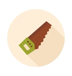 Hand saw flat icon vector