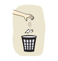 Hands with garbage vector