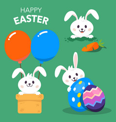 happy easter day background vector image