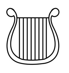 harp musical instrument icon vector image