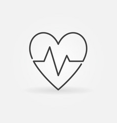 Heartbeat concept icon heart rate outline vector