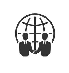 International business partnership icon vector