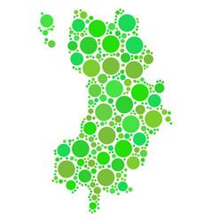 Koh tao thai island map mosaic of circles vector