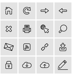 line web icon set vector image