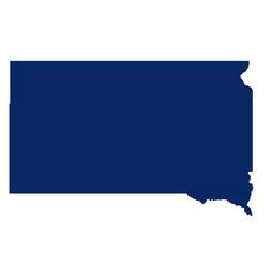 Map south dakota in blue colour vector
