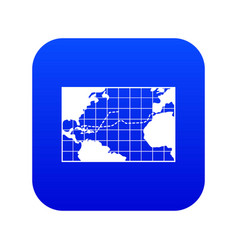 Map trips columbus icon digital blue vector